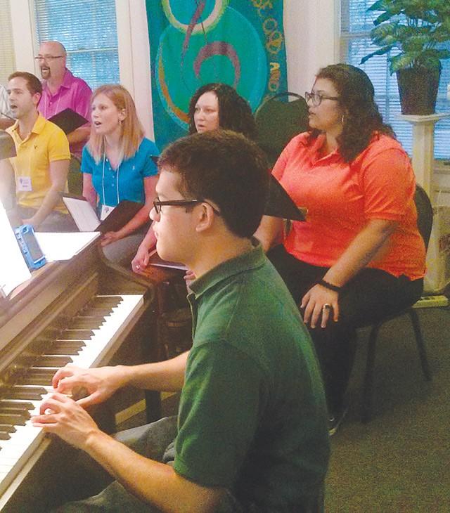 "The Live Oak Singers rehearse ""Hallelujah"" last month - JADE ESTEBAN ESTRADA"