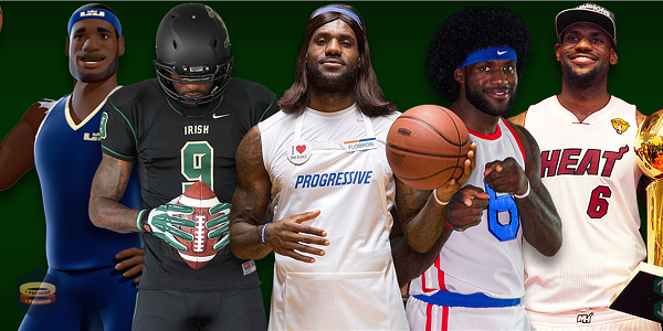 The many faces of LeBron James - SCREENSHOT FROM JAMES' OFFICIAL SITE