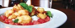 The tempura shrimp at Auden's Kitchen