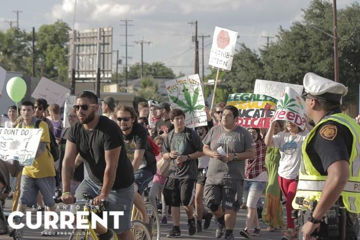 Just days after San Antonio's first marijuana reform march, a bill decriminalizing marijuana was approved in committee. - ALEX RAMIREZ