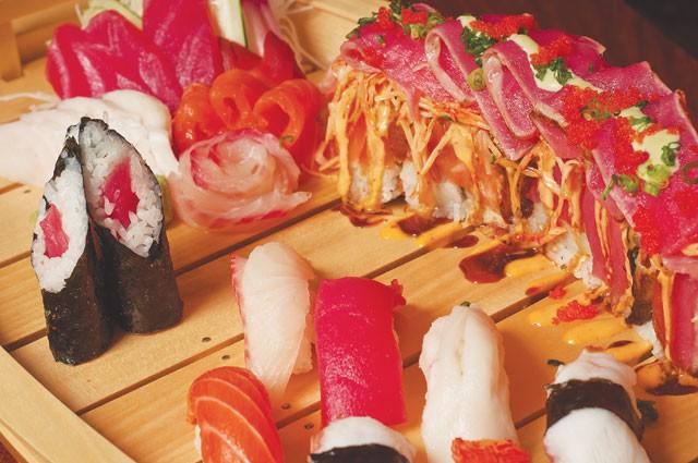The Ultimate Roll and assorted nigiri from Kai Sushi. - ERIK GUSTAFSON