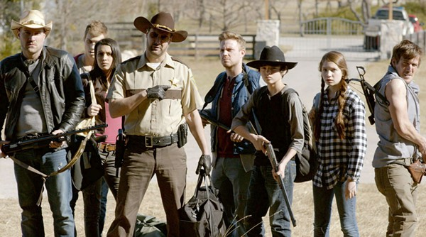 A motley crew of zombie apocalypse survivors searches for a safe haven in The Walking Deceased. - COURTESY