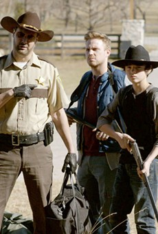 A motley crew of zombie apocalypse survivors searches for a safe haven in The Walking Deceased.
