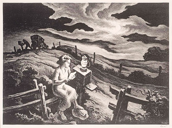 Thomas Hart Benton, Letter from Overseas, 1943, lithograph - COURTESY PHOTO