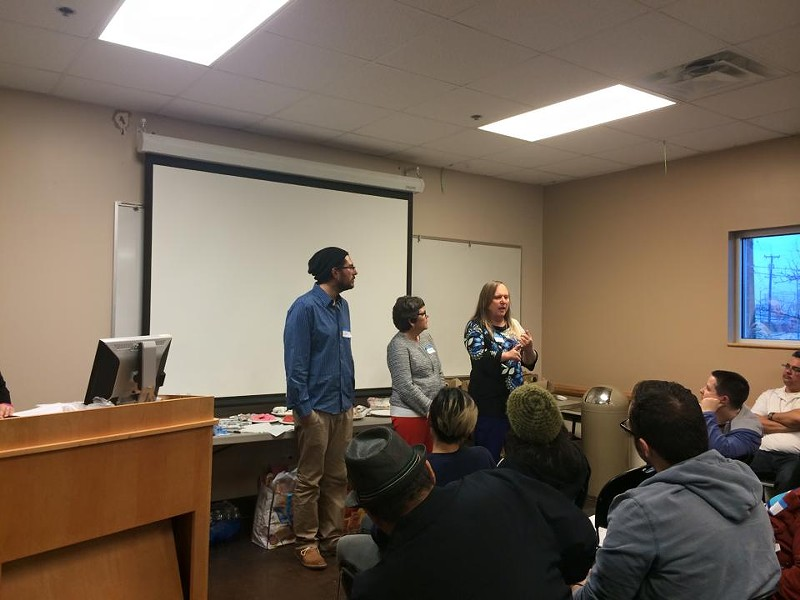 From left: Thrive Youth Center assistant director Joshua  Yurcheshen, executive director Sandra Whitley, and assistant director Lauryn Farris. - THRIVE YOUTH CENTER