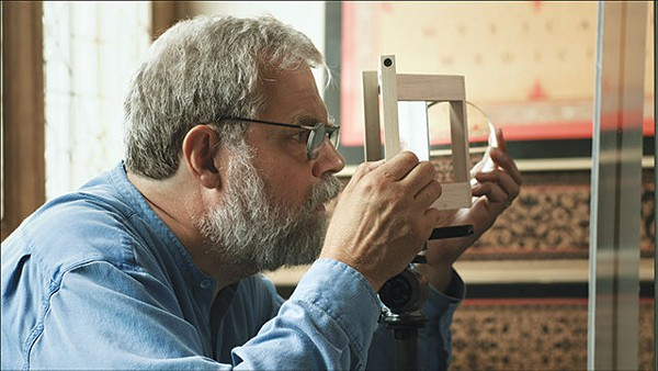 Tim Jenison, in his recreated Vermeer room, in the documentary Tim's Vermeer - COURTESY PHOTO