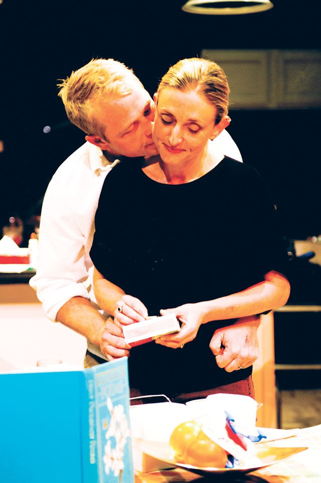 Tim Waggoner and Renee Garvens in AtticRep's Fifty Words. - COURTESY PHOTO