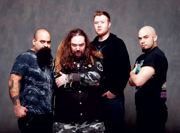 Tony Campos (bass), Cavalera (guitar, vocals), David Kinkade (drums), and Mark Rizzo (lead guitar, formerly of Ill Niño) are Soulfly. - COURTESY PHOTO