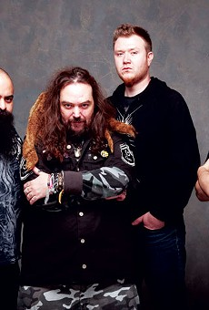 Tony Campos (bass), Cavalera (guitar, vocals), David Kinkade (drums), and Mark Rizzo (lead guitar, formerly of Ill Niño) are Soulfly.