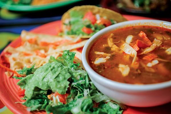Tortilla soup combo from Nicha's Comida Mexicana. - JOSH HUSKIN
