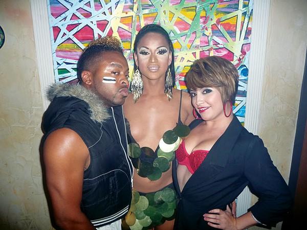 Trevion Diamond LaRue, Felisha Andrews, and Starlett Monroe at Club Empire - BRYAN RINDFUSS