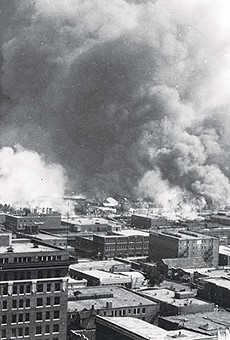 """Tulsa's """"Black Wall Street"""" in flames during a white-on-black riot"""