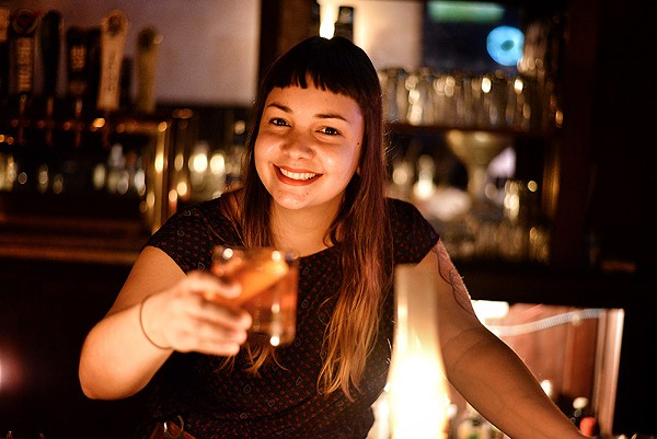 "Zulcoralis ""Zulco"" Rodríguez hopes that practice makes perfect as she heads to NYC this weekend to take part in the country's top bartending competition. - KODY MELTON"