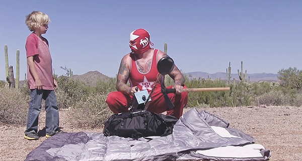 A pro wrestler searches for a legendary lost treasure in Little Red and the Rhode Island Strangler. - COURTESY