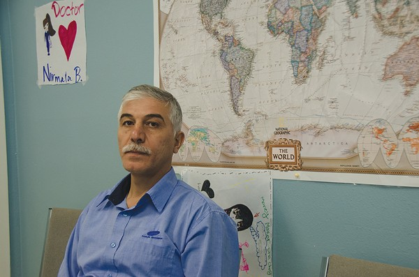 Sabah Al-Dehaisy, a refugee in SA, is trying to work again as a veterinarian. - MICHAEL MARKS