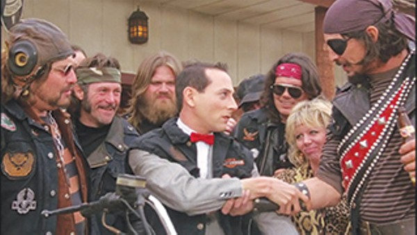 Luis Contreras as Biker #2 in 'Pee-wee's Big Adventure.' - COURTESY