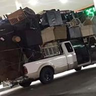 This San Antonio Driver Seriously Packed an Entire House on Their Truck