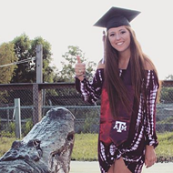 This Texas A&M Student Took Her Graduate Photos with a Huge Gator – Yes, Really