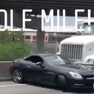 Driver of Mercedes That Was Pushed By 18-Wheeler on I-35 Files $1 Million Lawsuit