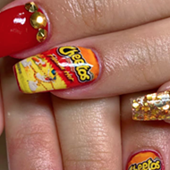 San Antonio Nail Artist Creates Puro Look Dedicated to Flamin' Hot Cheetos