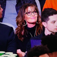 Sarah Palin Seen Cheering on Spurs at AT&T Center Last Night