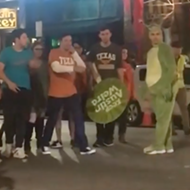Late Night Host Jimmy Fallon Spotted Running Around UT Campus, Riding Scooter Down Sixth Street