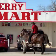 Never Change, San Antonio: Man Seen Riding Horse at East Side Convenience Store