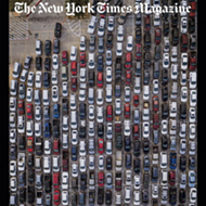 Image of San Antonio Food Bank Distribution Lines Makes Cover of <i>New York Times Magazine</i>