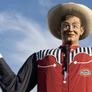 Texas State Fair's Big Tex Mascot Gets Quarantine Makeover in San Antonio-Area Town of Boerne