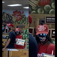 Twitter Ridicules MAGA-Bedecked Couple Spotted at North San Antonio Trader Joe's
