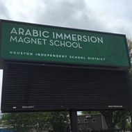 Houston Dunces Protest First Day Of Classes At Arabic Immersion School