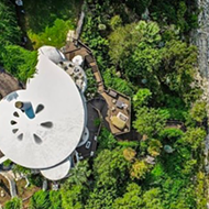 A spiral-shaped sand dollar house is on the market for $2.2M in Central Texas
