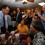 Republican Presidential Hopeful Scott Walker Pitches Washington Shakeup With A Side Of Brisket In SA