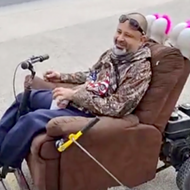 San Antonio man goes viral with puro mode of transport: a motorized recliner