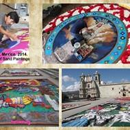 Oaxacan Sand Painters Celebrate Día de los Muertos in SA