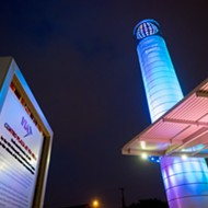 New Public Art <i>Centro Chroma Tower</i> Illuminates Transportation Plaza