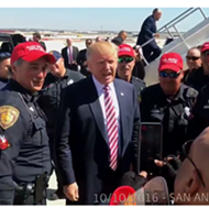 "San Antonio Police Union Says Officers Wearing Pro-Trump Hats On Duty Got ""Caught Up in the Moment"""