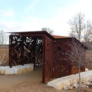 Wildlife viewing blinds at Phil Hardberger Park combine public art with appreciation of nature