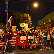 Anti-Trump Protest Takes Downtown San Antonio, Peacefully