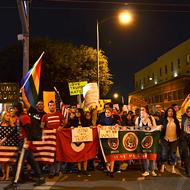 Anti-Trump Protest Takes Downtown San Antonio, Peacefully