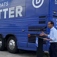 San Antonio's Castro brothers tout Biden's infrastructure bill as Democratic bus tour rolls into town