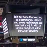 San Antonio Spurs Link Arms for Equality Before Season Opener