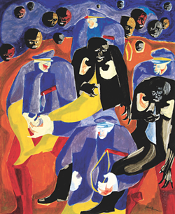 """The Rebels"" - JACOB LAWRENCE"
