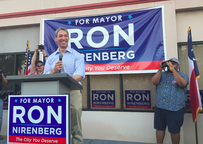 Mayor Ron Nirenberg made transportation upgrades a top component of his election campaign. - ALEX ZIELINSKI