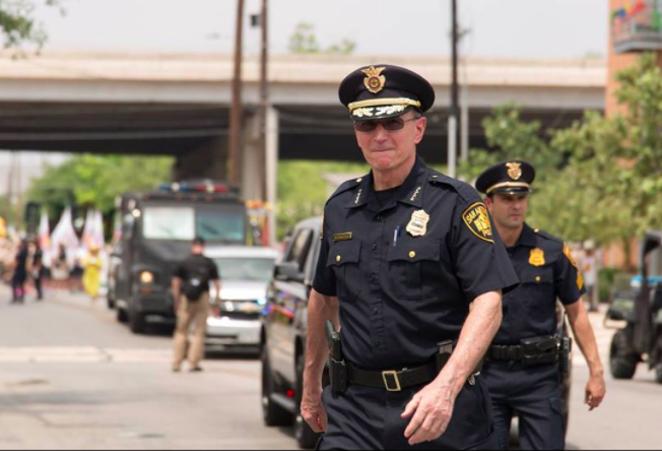 Top cop William McManus said SAPD has made strides to help women officers climb ranks. - SAPD / FACEBOOK