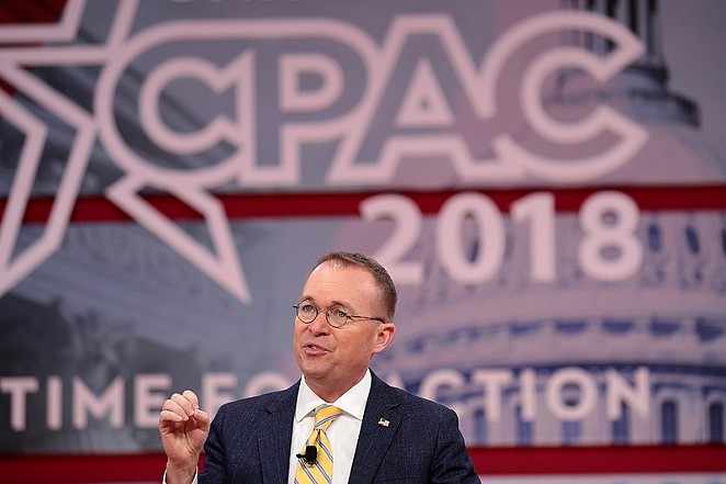 Mick Mulvaney speaking at the 2018 Conservative Political Action Conference in National Harbor, Maryland. - WIKIMEDIA COMMONS/GAGE SKIDMORE
