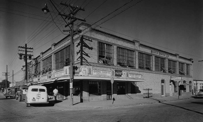 Photo of the Basila Frocks Building taken in 1933. - PROVIDED BY WESTSIDE DEVELOPMENT CORPORATION