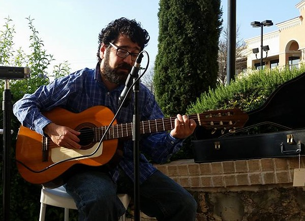 Singer-songwriter Jason Christopher Trevino performs an outdoor gig in San Antonio. - VIA JASON CHRISTOPHER TREVINO'S FACEBOOK PAGE
