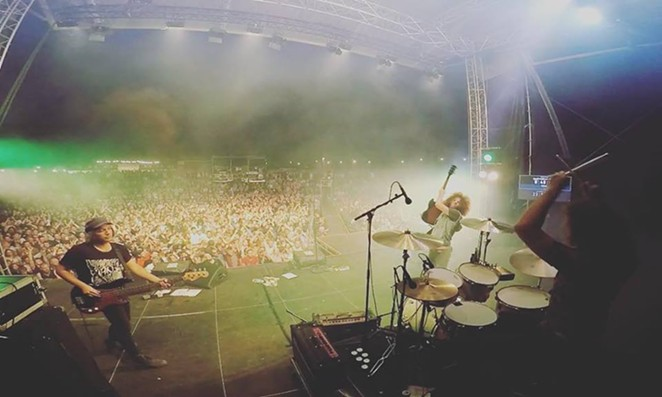 Wolfmother rip up the Malakoff Rock Festival. - VIA WOLFMOTHER'S FACEBOOK PAGE