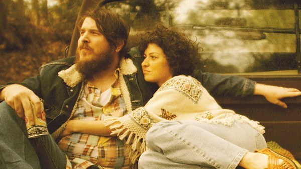 Ben Dickey and Alia Shawkat as Blaze Foley and Sybil Rosen - SUNDANCE SELECTS